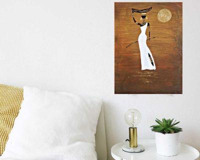 African black lady handmade painting