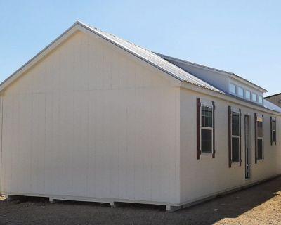 16x52 dormer cabin shell tiny house