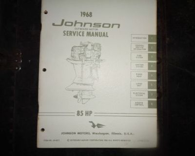 1968 Johnson Service Manual 85 Hp Motors @@@check This Out@@@
