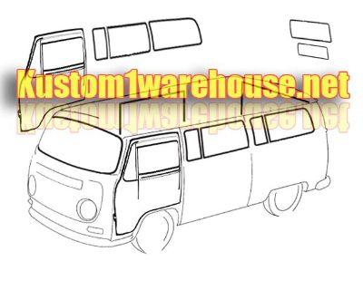 Window & door seal kit 68-79 Type 2 Bus