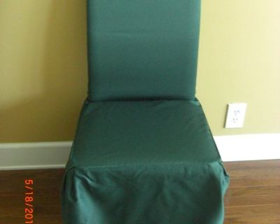 2) Chair Cover Covers GREEN fits Dining and Parson chairs