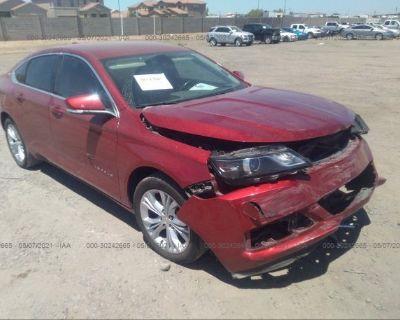 Salvage Red 2015 Chevrolet Impala