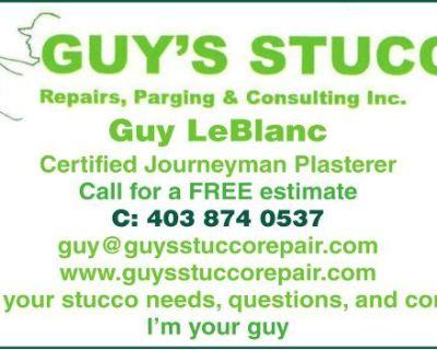 GUY'S STUCCO Repairs, Pargin...
