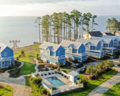 Neuse Village #5 - Quaint, tranquil cottage with private beach, pool & amazing views - Minnesott Beach