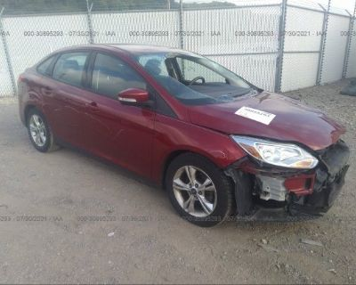 Salvage Red 2013 Ford Focus