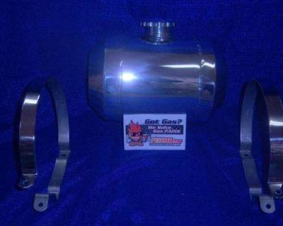8x10/12/14 2 Gallon Fuelies Fully Polished Spun Aluminum Gas Tank/rat Rod/gasser