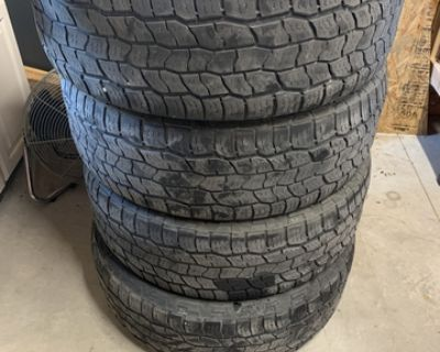 4 used tires - 275 60R20