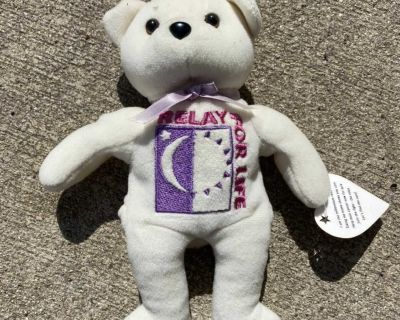 Relay for life beanie baby