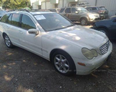 Salvage White 2004 Mercedes-benz C-class