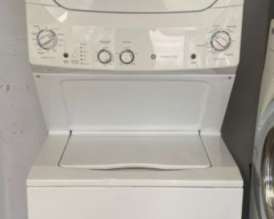 """GE 27"""" Stackable Washer and Dryer Unit 240V"""