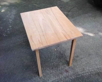 """Childs Table natural wood 24""""x18""""x21""""H"""