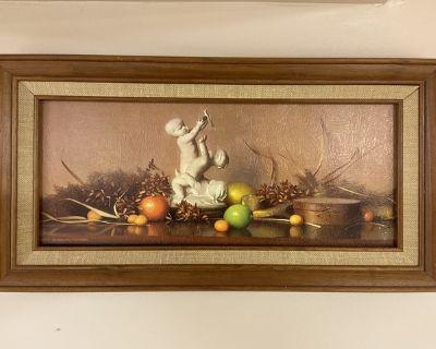 Vintage Robert Douglas Hunter Wood Framed Print