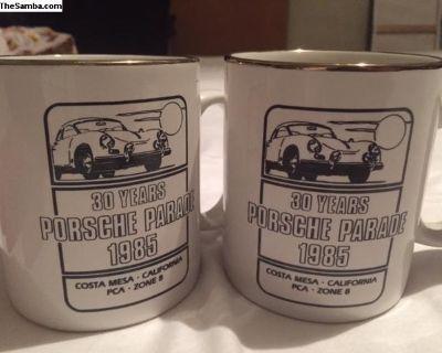 Porsche Coffee Mugs 30 Years Porsche parade 1985