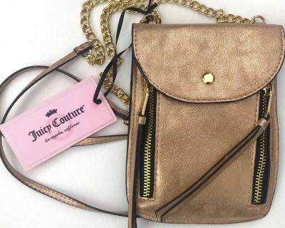 NWT Juicy Couture Gold Mini Phone Crossbody Purse