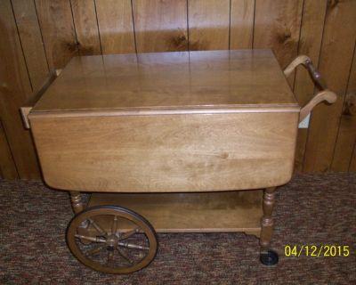 Ethan Allen Tea Cart/Serving Table Hutch