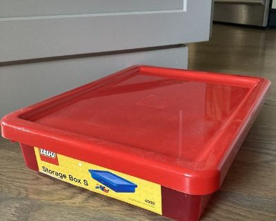 Red Lego Storage Case 4092 - Box with Lid only