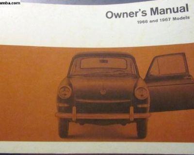 1967/1966 Type 3 Owner's Manual: NOS