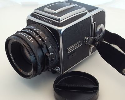 Hasselblad 500c/m body, A12 back, WLF