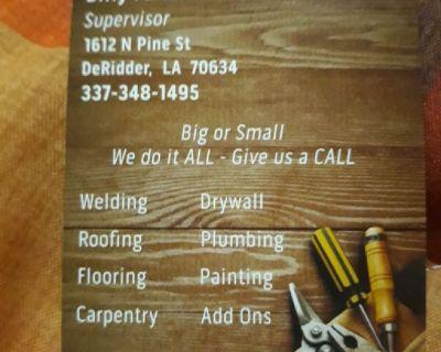 Need a handyman give us a call no job to big or small