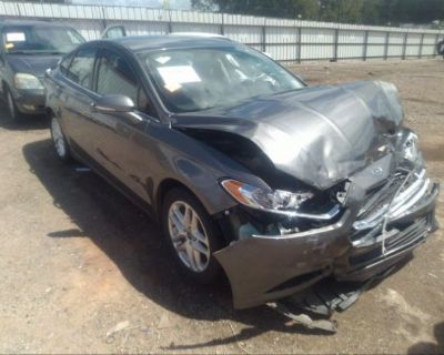 Salvage Gray 2014 Ford Fusion