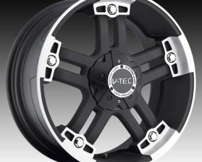 """20"""" V-tec 394 Black Wheels Rims Hummer H2 H3 4wd"""