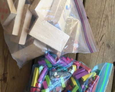 Counting cubes and domino wood blocks