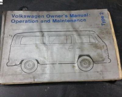 1972 bus owners manual