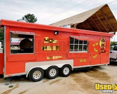 2020 7' x 24' Lightly Used Kitchen/BBQ Concession Trailer with Bathroom