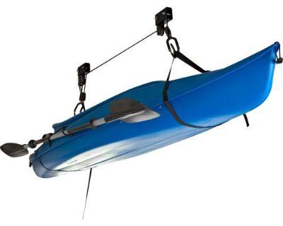 Canoe Kayak Hoist Overhead Lift Garage Ceiling Storage Rope Rack System Blc-1-1