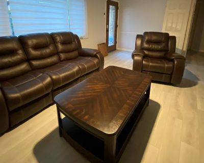 Sofa, Chair, Coffee Table, 2 End Tables & TV Stand