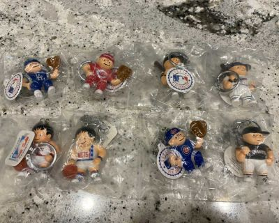 Vintage Sports Figure Keychains - New in plastic