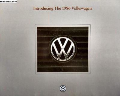 1986 Volkswagen full lineup brochure