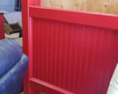 Red Wood Twin Headboard Only #1326-4376