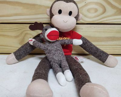 Curious George Plush Toy w/Moose