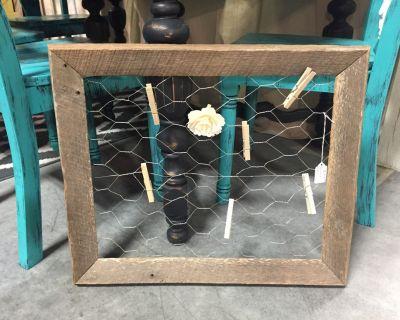 Barn Wood Memo Board! Only 1 in stock!