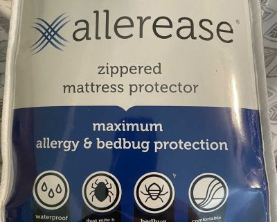 NIP. Retails $33 new. Full size Allerease zippered mattress cover. See all pics. Brand new!!!