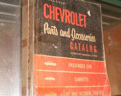 Vintage 1929 1958  CORVETTE Parts and Accessories Catalog Book Pickup Truck