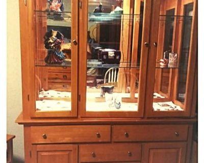 Beautiful Wood Display/China Cabinet and Hutch