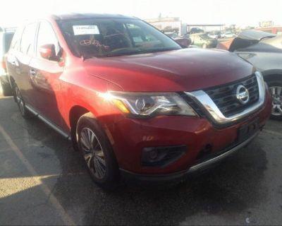 Salvage Red 2018 Nissan Pathfinder