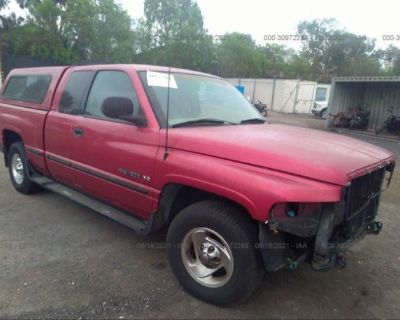 Salvage Red 1998 Dodge Ram 1500