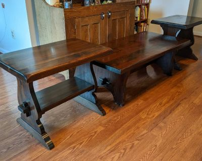 Vintage Coffee Table with Matching End Tables
