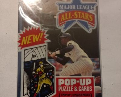 1985 Major League All-Stars Pop-up Puzzle & Cards.