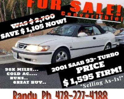 $1,595 Convertible Saab 93 Turbo 98k Low Miles!