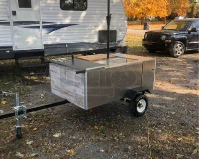 Ready to Roll Used 2019 Hot Dog Food Vending Concession Cart