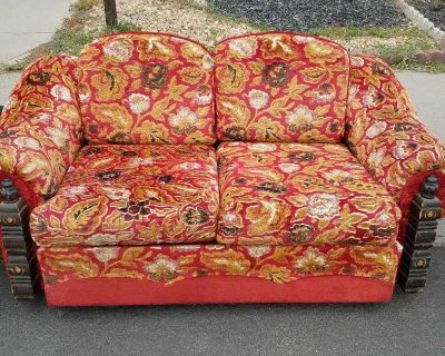 2 Seater Red Couch