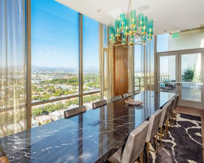 Rooftop Conference Room with High-rise View, Los Angeles, CA