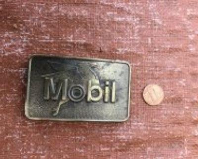 Original mobilgas belt buckle
