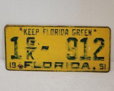 Florida 1951 license plate