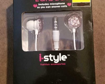 Fashion Bling Earbuds w/ Microphone NIB