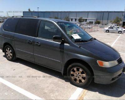 Salvage Blue 2003 Honda Odyssey
